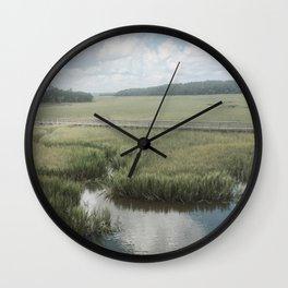 Peaceful Marshy Meadow Wall Clock