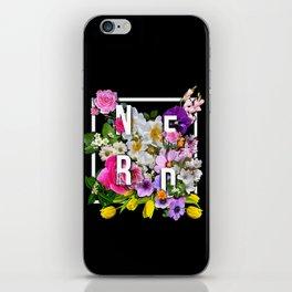 Nerd Flowers iPhone Skin