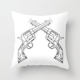 Botanical Revolvers Throw Pillow
