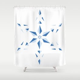 Duotone Star Shower Curtain