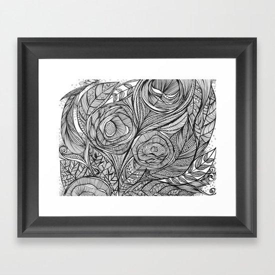 Garden of fine lines Framed Art Print