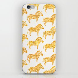 Zebras – Yellow Palette iPhone Skin