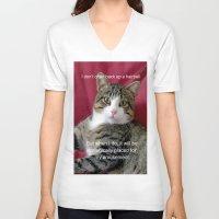 meme V-neck T-shirts featuring TJ Meme by Frankie Cat