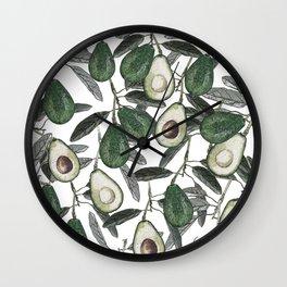 Ripe Avocado Wall Clock