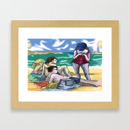 Fran and Friends Framed Art Print