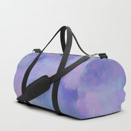 Watercolour Galaxy - Purple Speckled Sky Duffle Bag