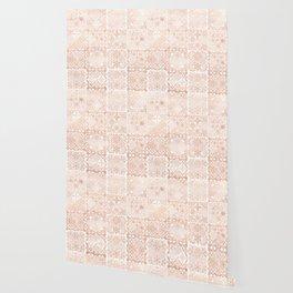 MOROCCAN TILES ROSEGOLD Wallpaper