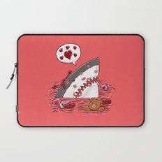 The Valentine's Day Shark Laptop Sleeve