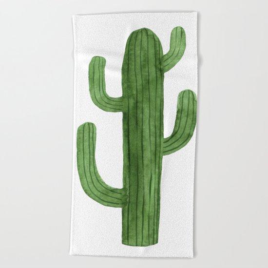 Solo Cactus Green Beach Towel