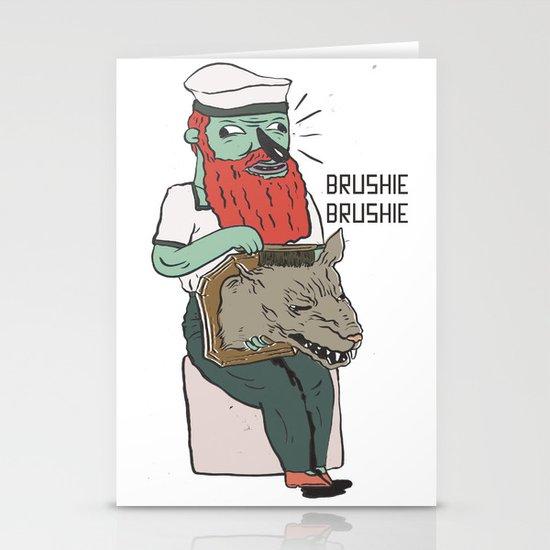 brushie brushie Stationery Cards