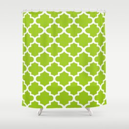 Arabesque Architecture Pattern In Lime Shower Curtain