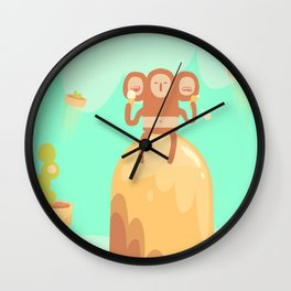 Tu-Mo Enjoys a Frozen Treat in the Floaty Lands Wall Clock