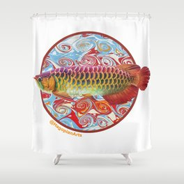 The Eco Mural Project 3: Arowana Shower Curtain