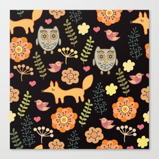 Сhildren's seamless with animals Canvas Print