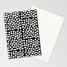 Bryan - black and white minimal dots polka dots cell phone iphone6 case trendy urban brooklyn minima Stationery Cards