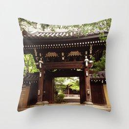 Japan temple Throw Pillow