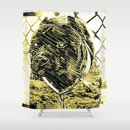 Pit Bull Models: Khan 02-01 Shower Curtain