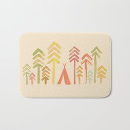 Tepee in the forest Bath Mat