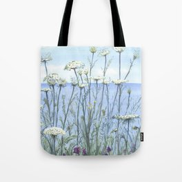 Queen Anne's lace, Watercolour Tote Bag
