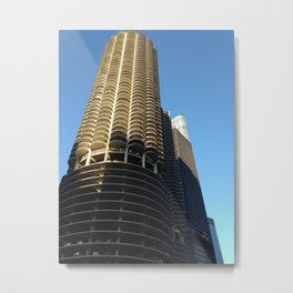 blue sky + marina towers chicago 1 Metal Print