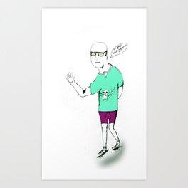 Billy No Mates Art Print