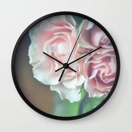 Antique Roses Wall Clock