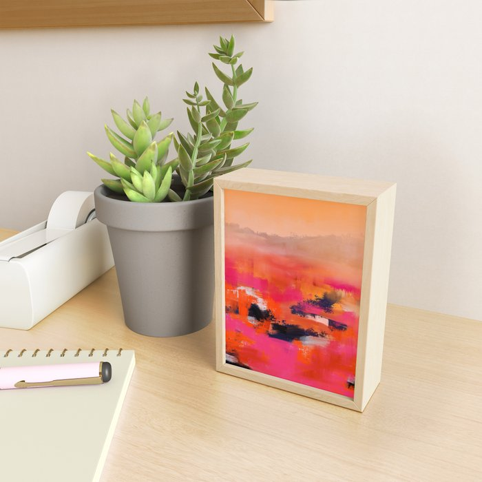 Warm Fields Framed Mini Art Print