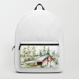 Old Tobacco Farm Building Backpack