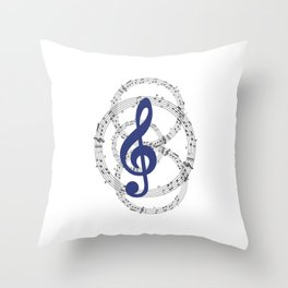 Flow with the Nodes Throw Pillow