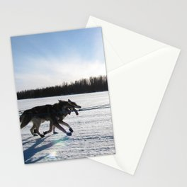 Sled Dogs Stationery Cards