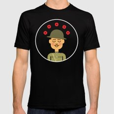 Remembrance Day Black Mens Fitted Tee LARGE