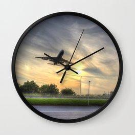Boeing 747 Sunset Landing Wall Clock