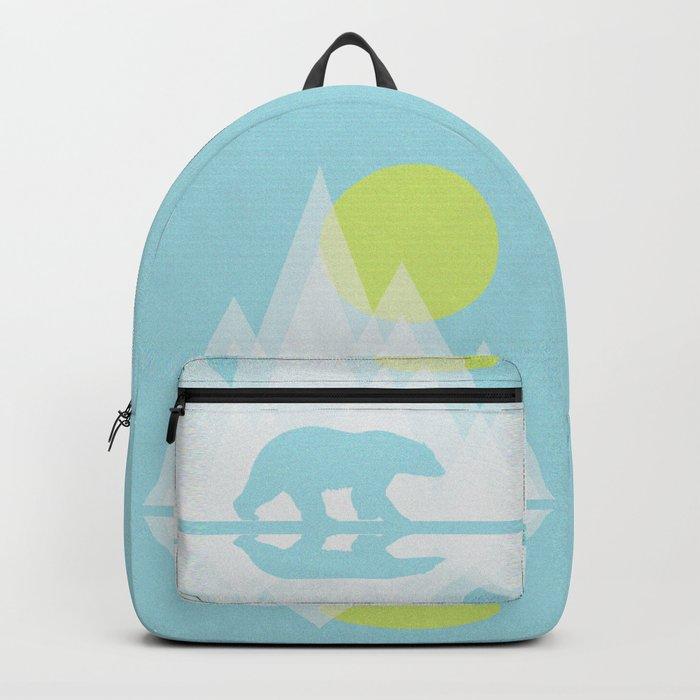 Polar Bear Abstract icecap Landscape Surrealism Art Backpack