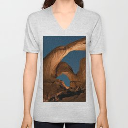 Double  Arch  - Nature Window in Utah Unisex V-Neck