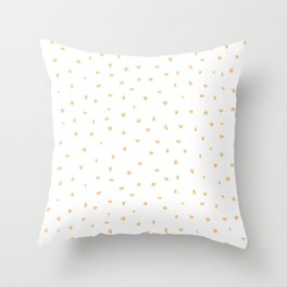 Pattern - Sprinkled White & Orange Throw Pillow