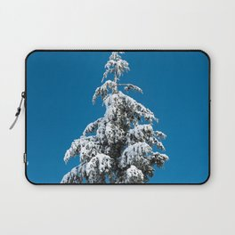 Winter Forest Fir Tree Snow X - Nature Photography Laptop Sleeve