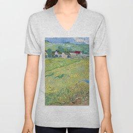 """""""Les Vessenots"""" in Auvers by Vincent van Gogh Unisex V-Neck"""