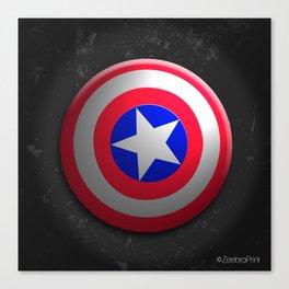 Capt. America Shield Canvas Print