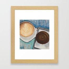 Cupcake and Coffee Framed Art Print