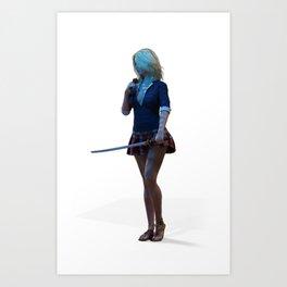 Swordmaster Art Print