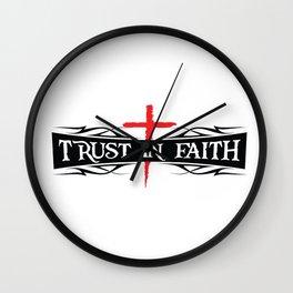 Trust In Faith Wall Clock