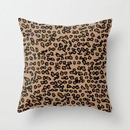 Digital Leopard Throw Pillow
