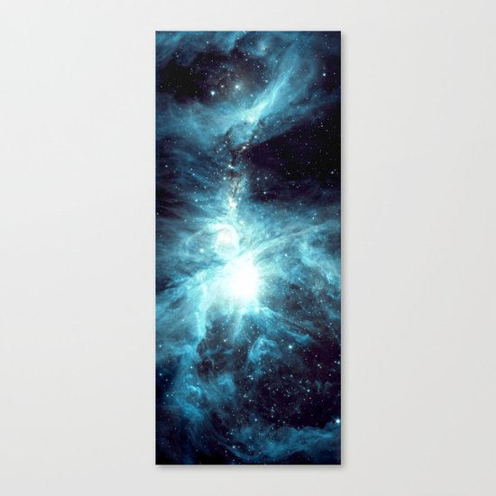 Orion Nebula Teal Canvas Print