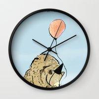 birthday Wall Clocks featuring Birthday by Emily Stalley