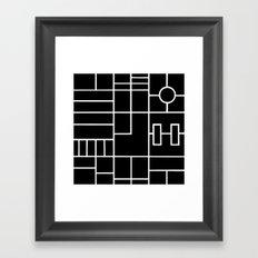 PS Grid Black Framed Art Print