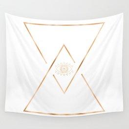 Mandala Gold Geometric Eye Wall Tapestry