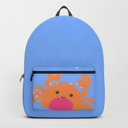 Orange Cartoon Crab Backpack