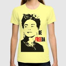 Be FREEda Womens Fitted Tee LARGE Lemon