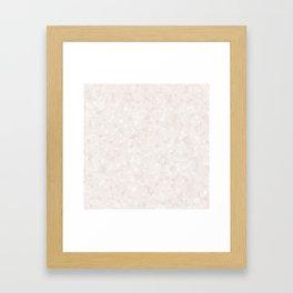 Bridal Blush Polka Dot Bubbles Framed Art Print