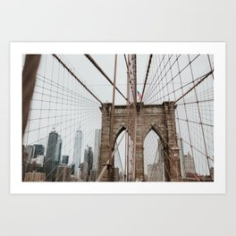 Brooklyn Bridge | Colourful Travel Photography | New York City, America (USA) Art Print